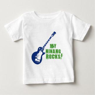 Rocha sobre! Ninang Camiseta Para Bebê