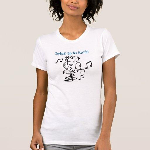 Rocha suíça das meninas tshirts