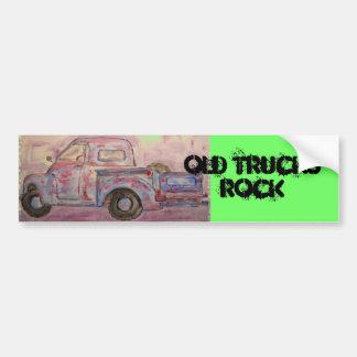Rocha velha dos caminhões adesivo