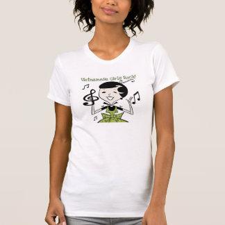 Rocha vietnamiana das meninas camiseta