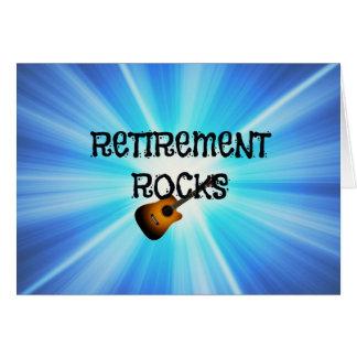 Rochas da aposentadoria cartão comemorativo