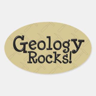 Rochas da geologia! adesivo oval
