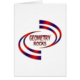 Rochas da geometria cartão comemorativo