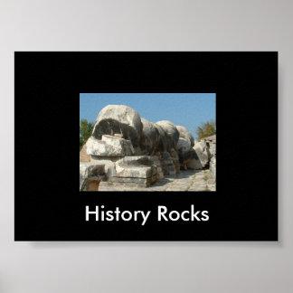 Rochas da história pôster