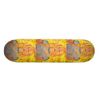 rochas da menina do baterista shape de skate 18,7cm