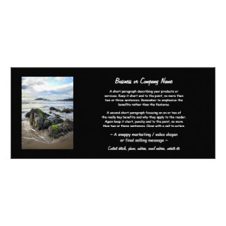 Rochas de Bantham à ilha do Burgh 10.16 X 22.86cm Panfleto