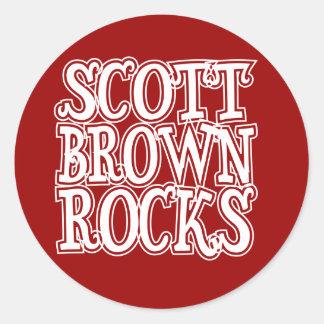 Rochas de Scott Brown Adesivo