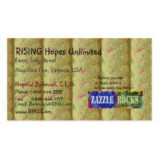 ROCHAS de ZAZZLE - a ascensão espera o painel 2 do Cartão De Visita