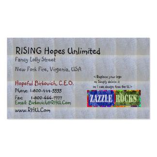 ROCHAS de ZAZZLE - Babysoft estofa tecidos de n Cartão De Visita
