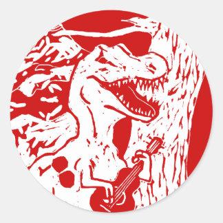 Rochas do dinossauro adesivos redondos