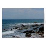 Rochas do oceano na ilha de bloco cartoes