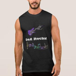 Rochas do pai! Camisola de alças do músico do pai Camisas Sem Manga