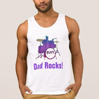 Rochas do pai! Camisola de alças do pai do Regatas