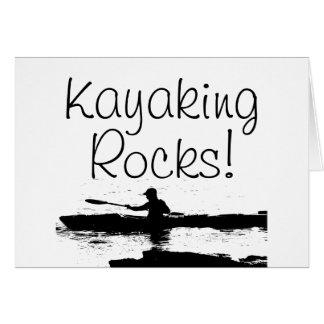 Rochas Kayaking! Cartão