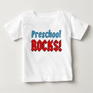 Rochas prées-escolar camiseta para bebê
