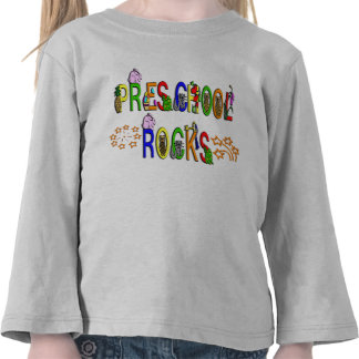 Rochas prées-escolar - estrelas camiseta