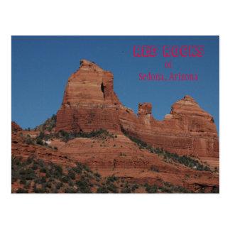 Rochas vermelhas de Sedona, cartão da arizona