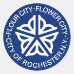 Rochester, New York, os Estados Unidos Adesivos Em Formato Redondos