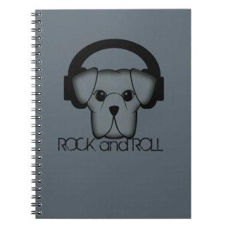 rock and roll do cão cadernos espiral