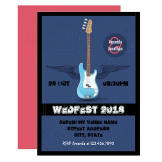 Rock and roll que Wedding o convite personalizado