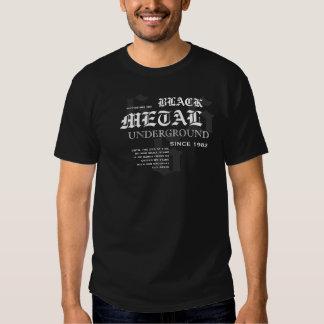 """Rock=Life """"metal preto"""" Ancientus subterrâneo Tshirt"""