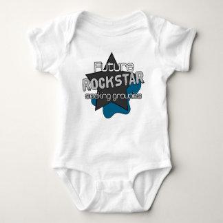 Rockstar futuro body para bebê