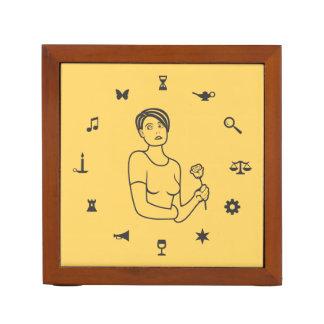 Roda da menina dos símbolos