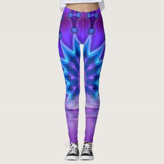 Roda da vida - violeta + sua mensagem leggings
