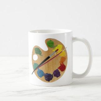 Roda de cor da paleta do ` s do artista caneca de café