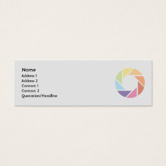 Roda de cor - magro cartão de visitas mini