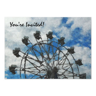 Roda de Ferris artística Convite 12.7 X 17.78cm