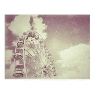 Roda de Ferris do vintage - cartão