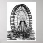 Roda de Ferris na feira de mundo de Chicago Posters