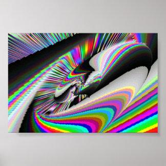 Roda de giro psicadélico poster