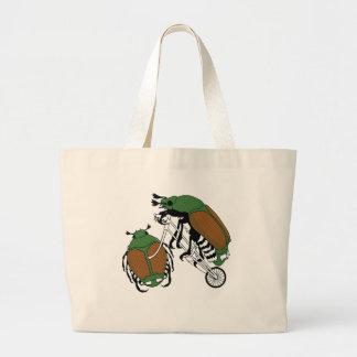 Roda do besouro japonês da bicicleta da equitação bolsa tote grande