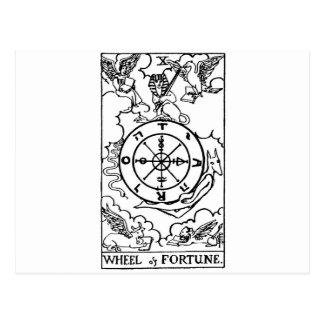 roda do tarot 'do fortune cartão postal