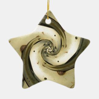 roda do trator do efeito do droste ornamento de cerâmica estrela