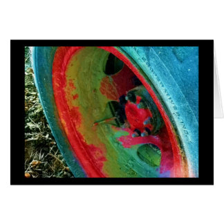 Roda velha do caminhão de GMC Cartão Comemorativo