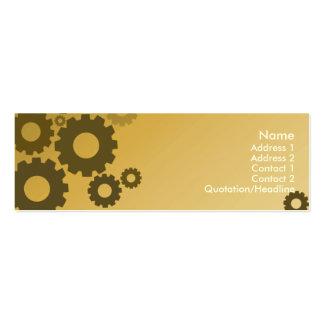 Rodas denteadas alaranjadas - magros cartão de visita skinny