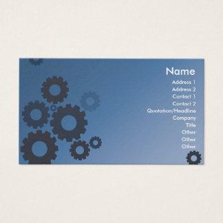 Rodas denteadas azuis - negócio cartão de visitas