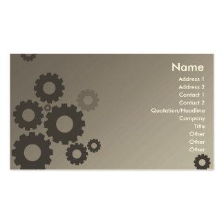 Rodas denteadas cinzentas - negócio cartão de visita