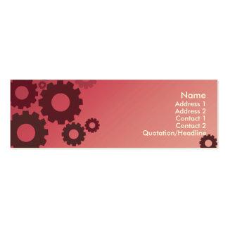 Rodas denteadas cor-de-rosa - magros cartão de visita skinny