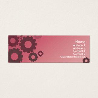 Rodas denteadas cor-de-rosa - magros cartão de visitas mini