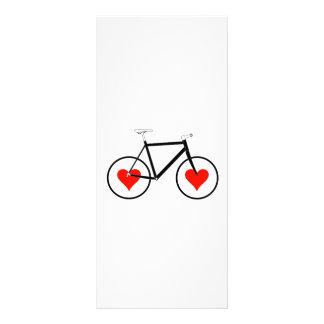 Rodas do coração da bicicleta 10.16 x 22.86cm panfleto