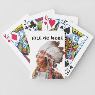 Rode em marcha lenta não mais cartões de jogo baralhos de pôquer