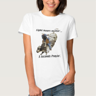 Rodeio - cavaleiro de Bull T-shirt