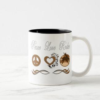 Rodeio do amor da paz canecas