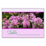 Rododendro roxo Tablecard