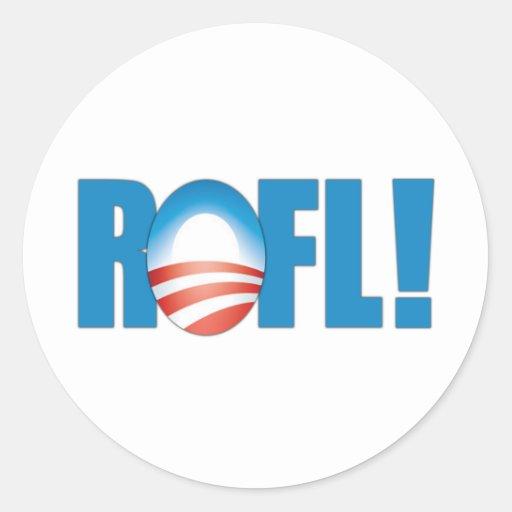 ROFL anti Obama Adesivos Redondos