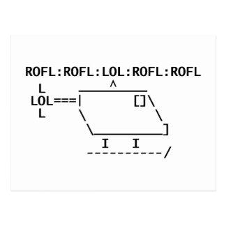 ROFLcopter Cartão Postal